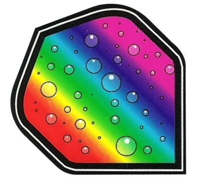 Rainbow Bubbles Hard Poly Flight