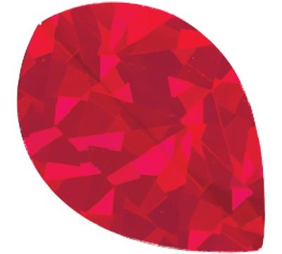Red Broken Glass Pear Flight