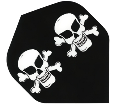 Skull & Cross Bones Hard Poly Flight