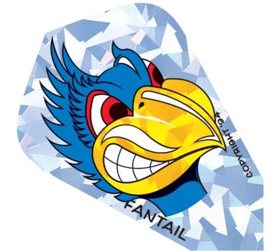 Blue Bird Fantail Flight