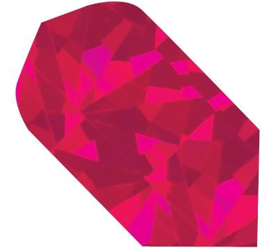 Red Broken Glass Slim Flight