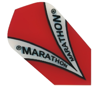 Red Marathon Hard Poly Slim Flight
