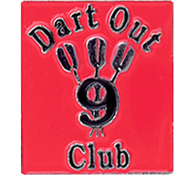 9 Dart Out Club Pin