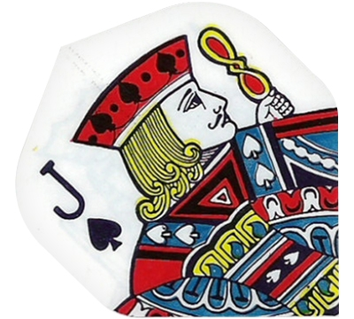 Jack of Spades Playing Card Hard Poly Flight